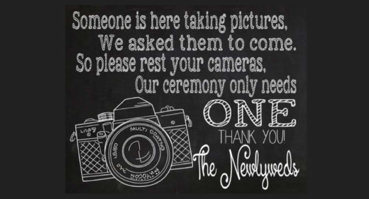 fotografo matrimonio non ufficiale