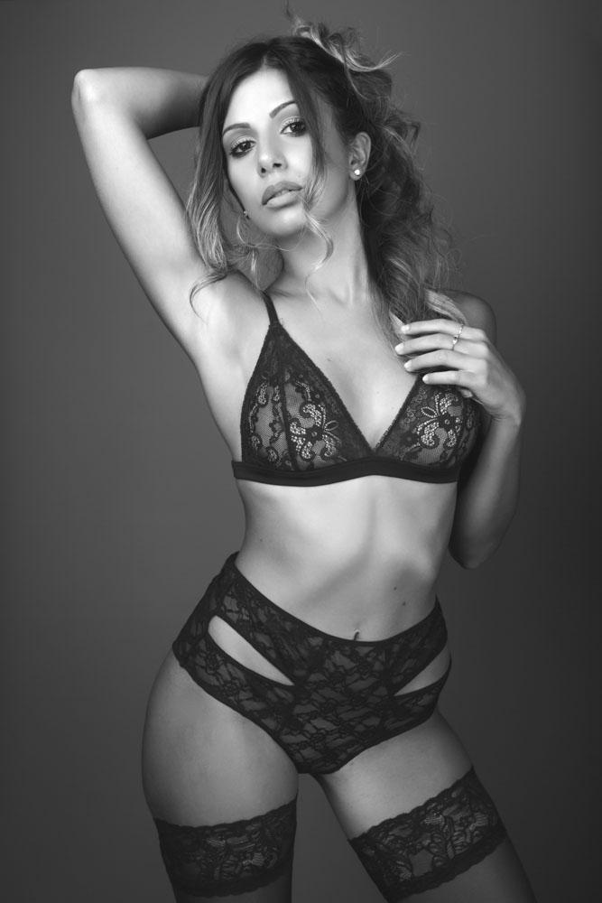 servizio fotografico in lingerie