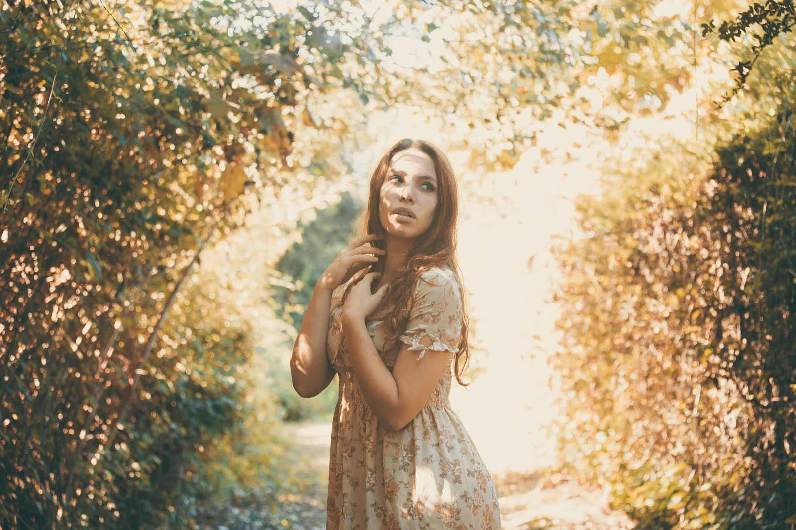 servizio fotografico in autunno