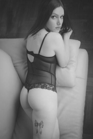 lingerie servizio fotografico