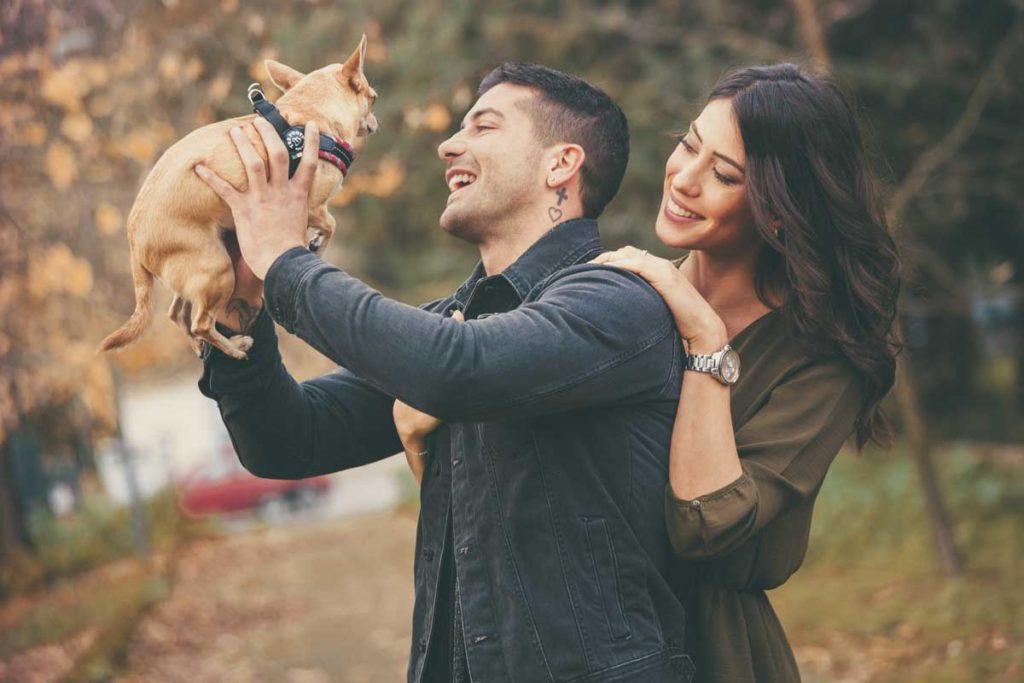 servizio fotografico con cane