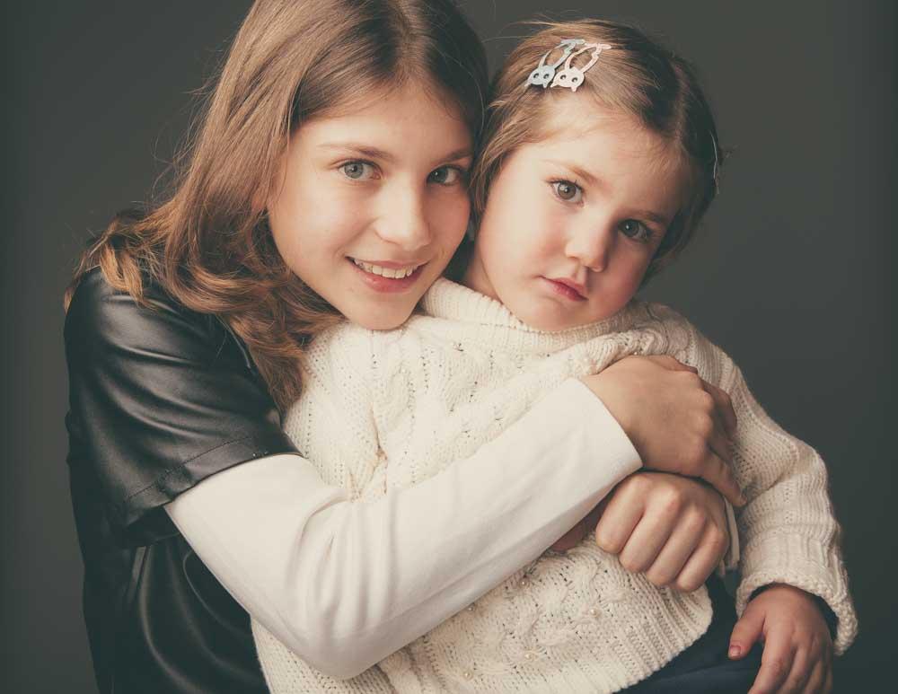 foto in studio famiglia e bambini