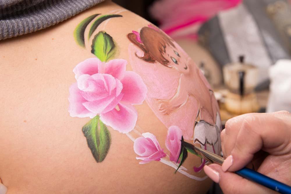 belly painting servizio fotografico