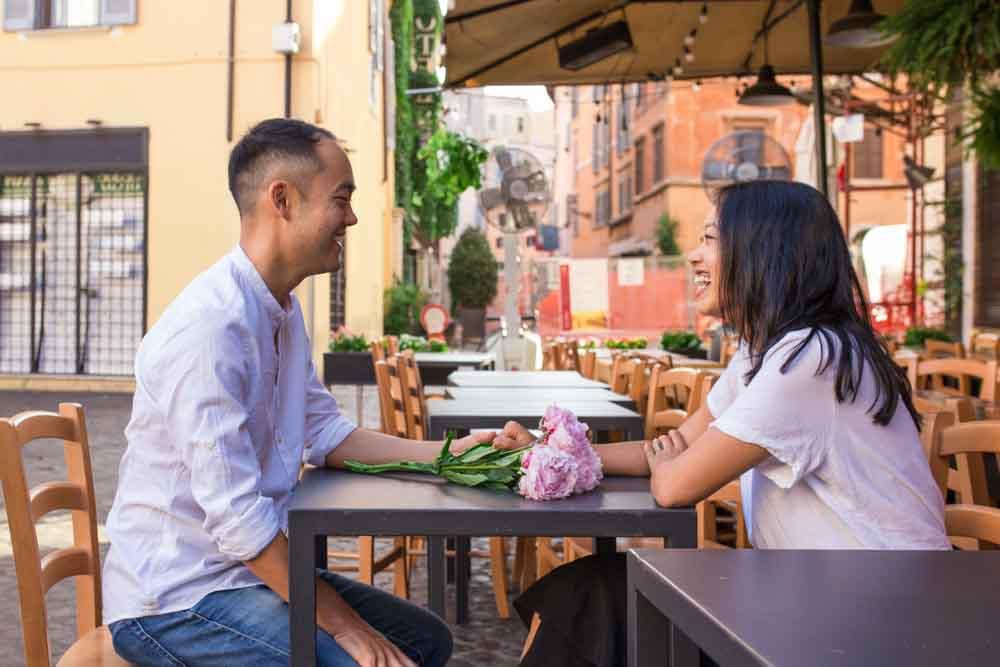 celebrating wedding anniversary in rome