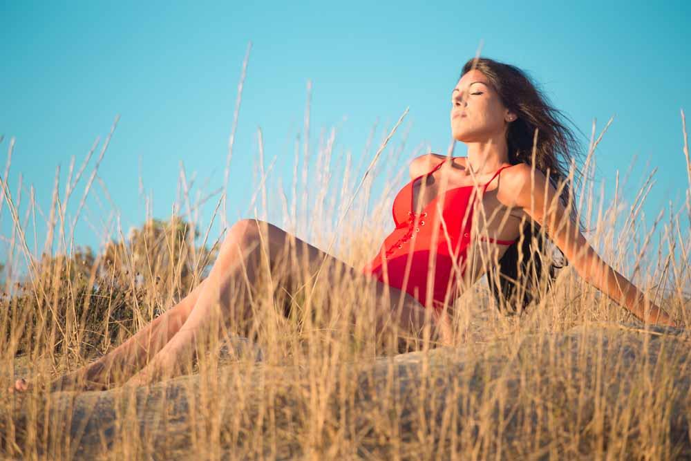foto in spiaggia pose