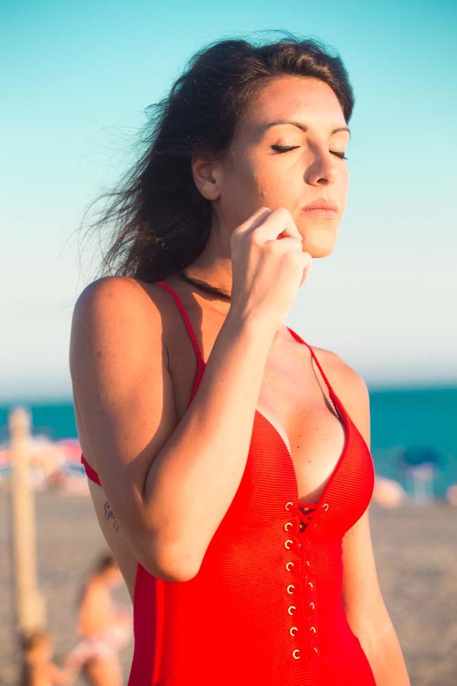 book fotografico sulla spiaggia