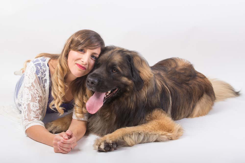 foto col cane in studio