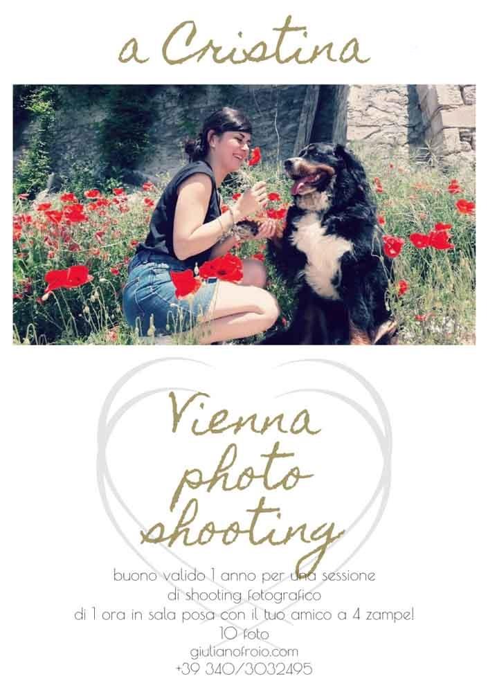 regalo servizio fotografico col cane