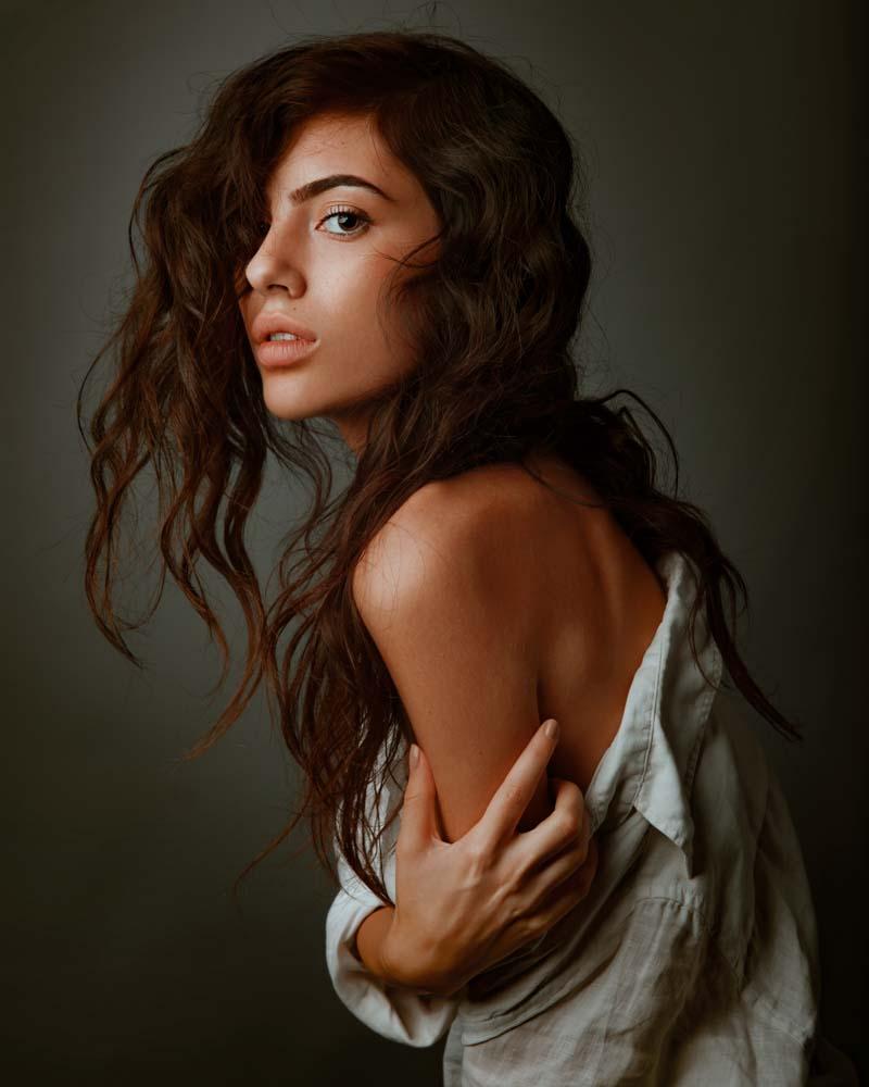 servizio fotografico di ritratto per donna