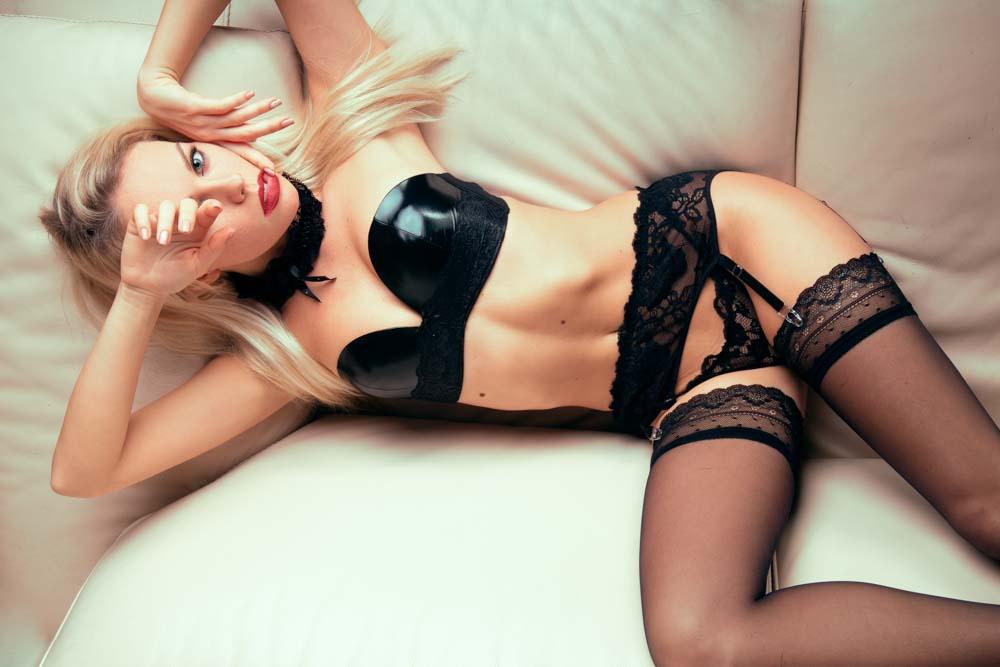 servizio fotografico sensuale in intimo
